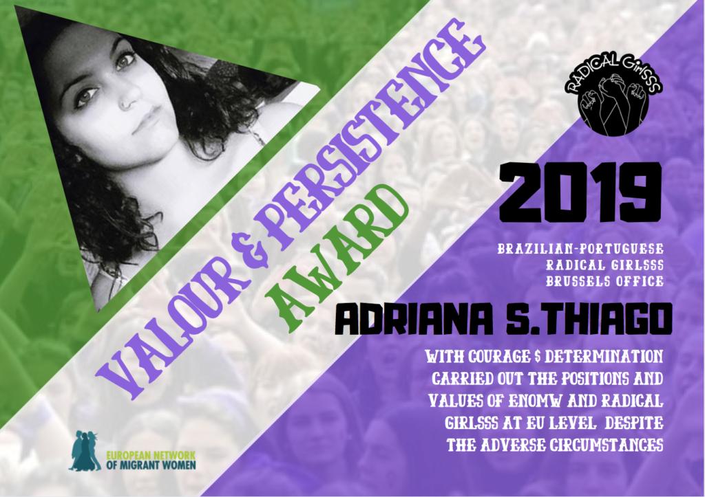 2019 Award Adriana