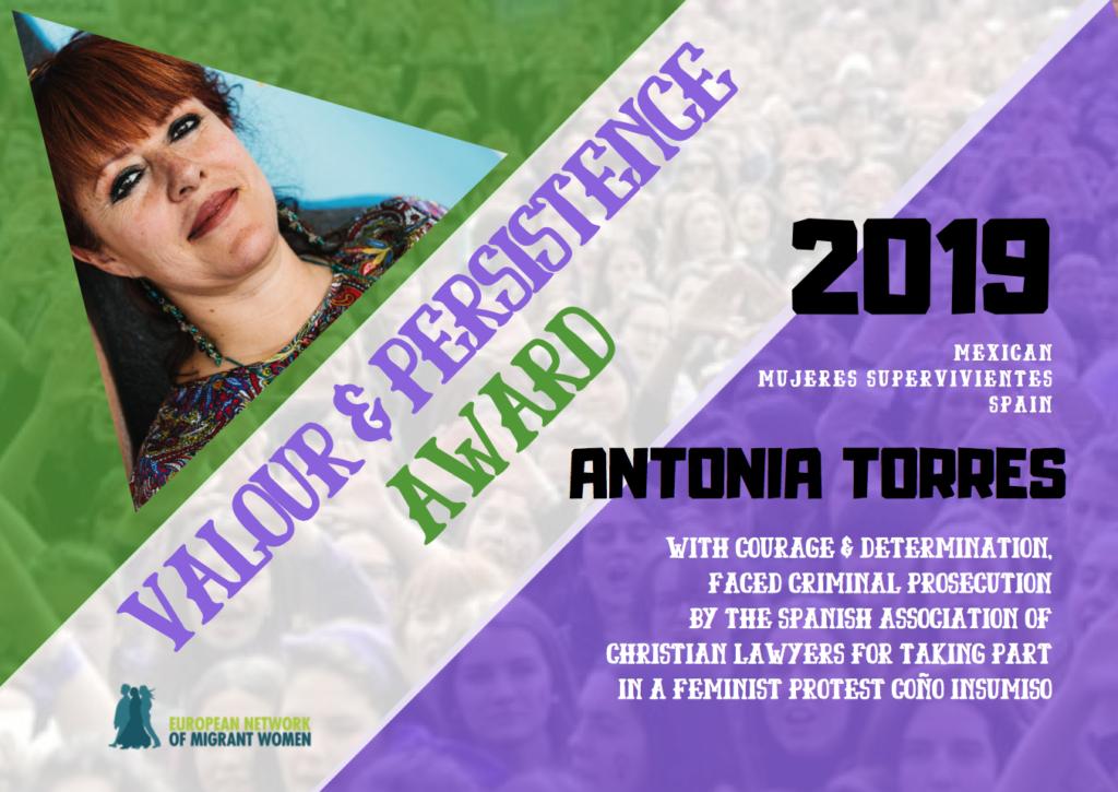 2019 Award Antonia
